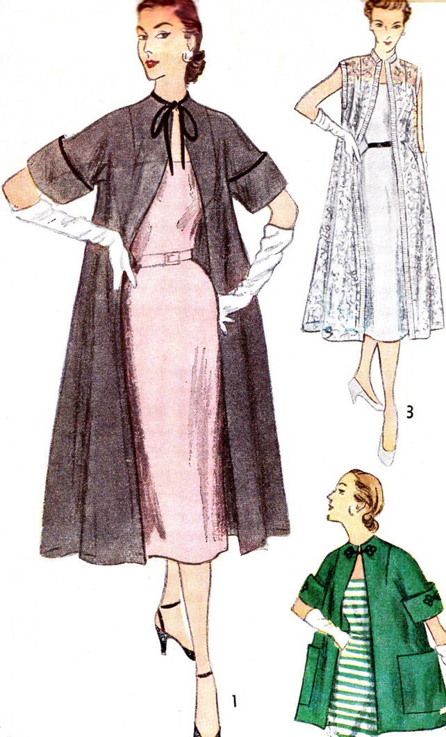 1950s Duster Coat Simplicity Pattern