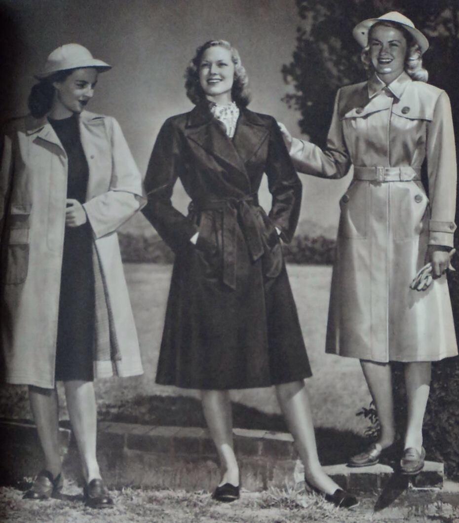 Montgomery Ward Catalog 1940s Rain Macs