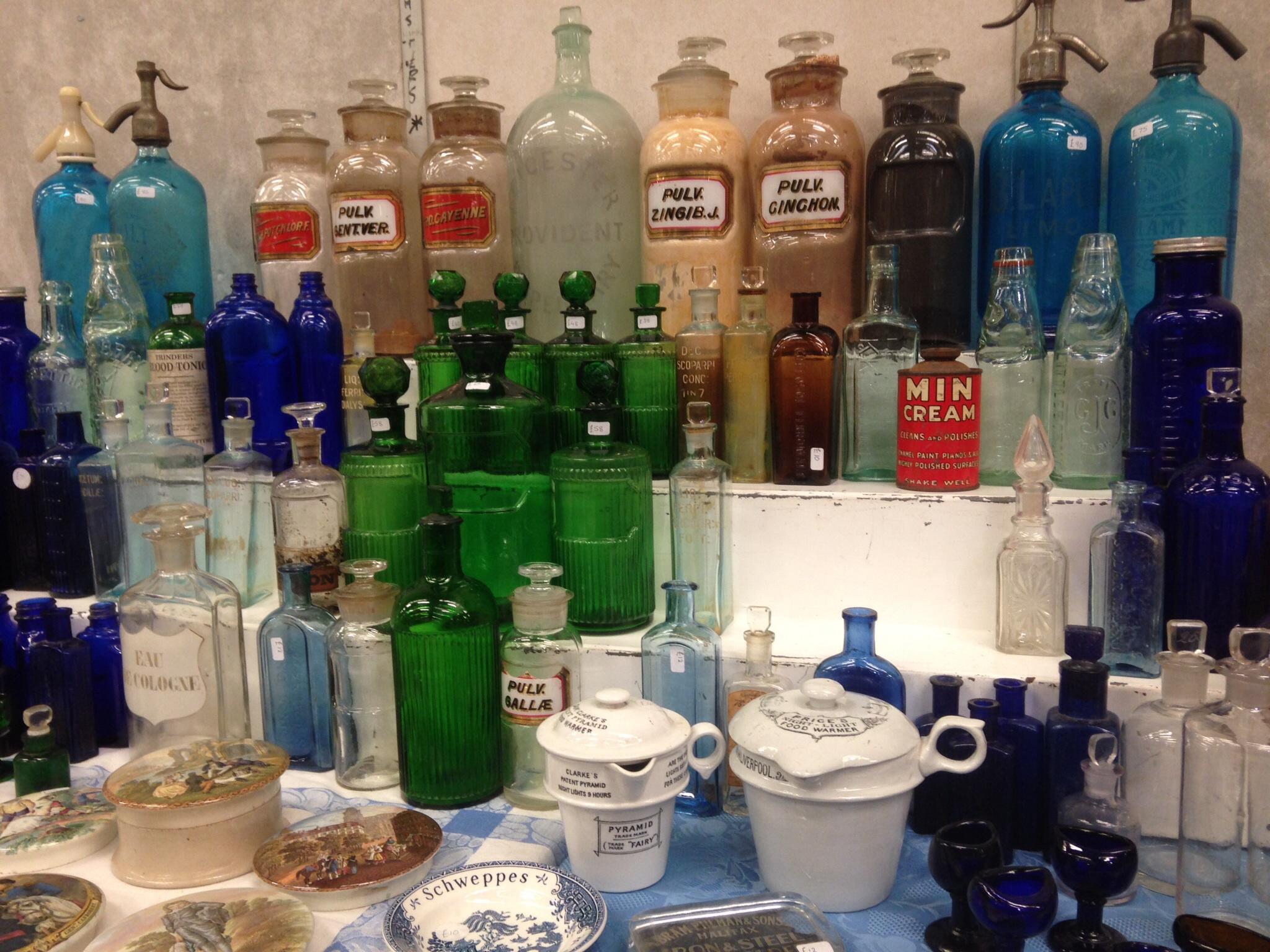 Shepton Mallet Flea Market - bottles
