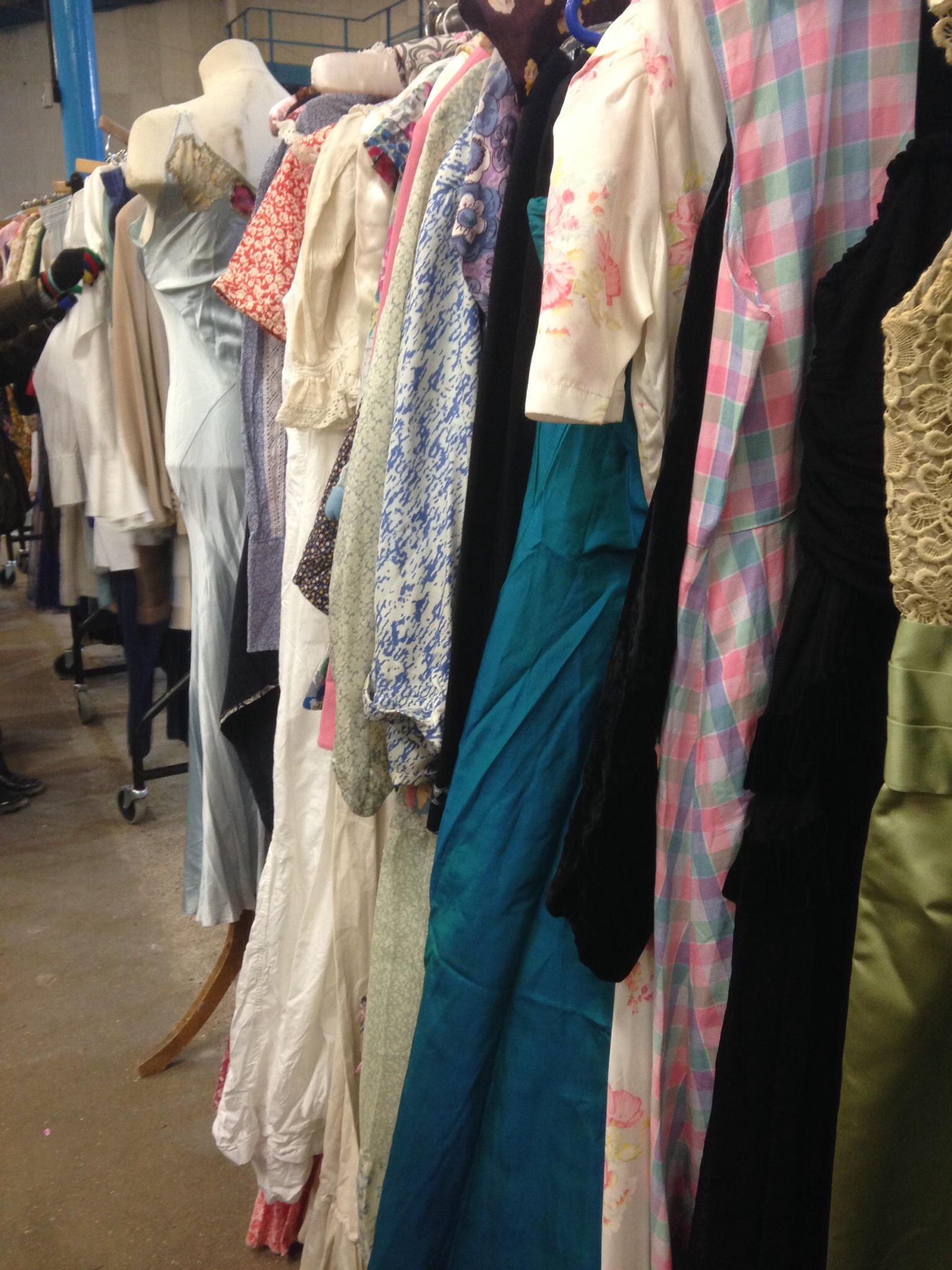 Shepton Mallet Flea Market - clothes