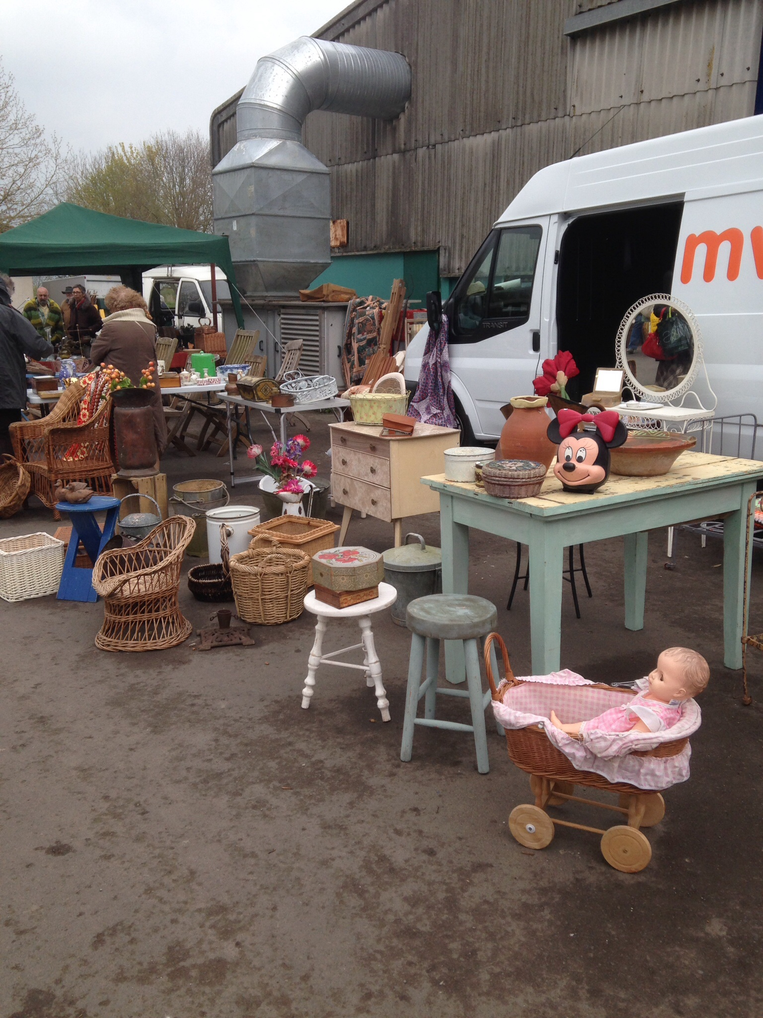 Shepton Mallet Flea Market - outside