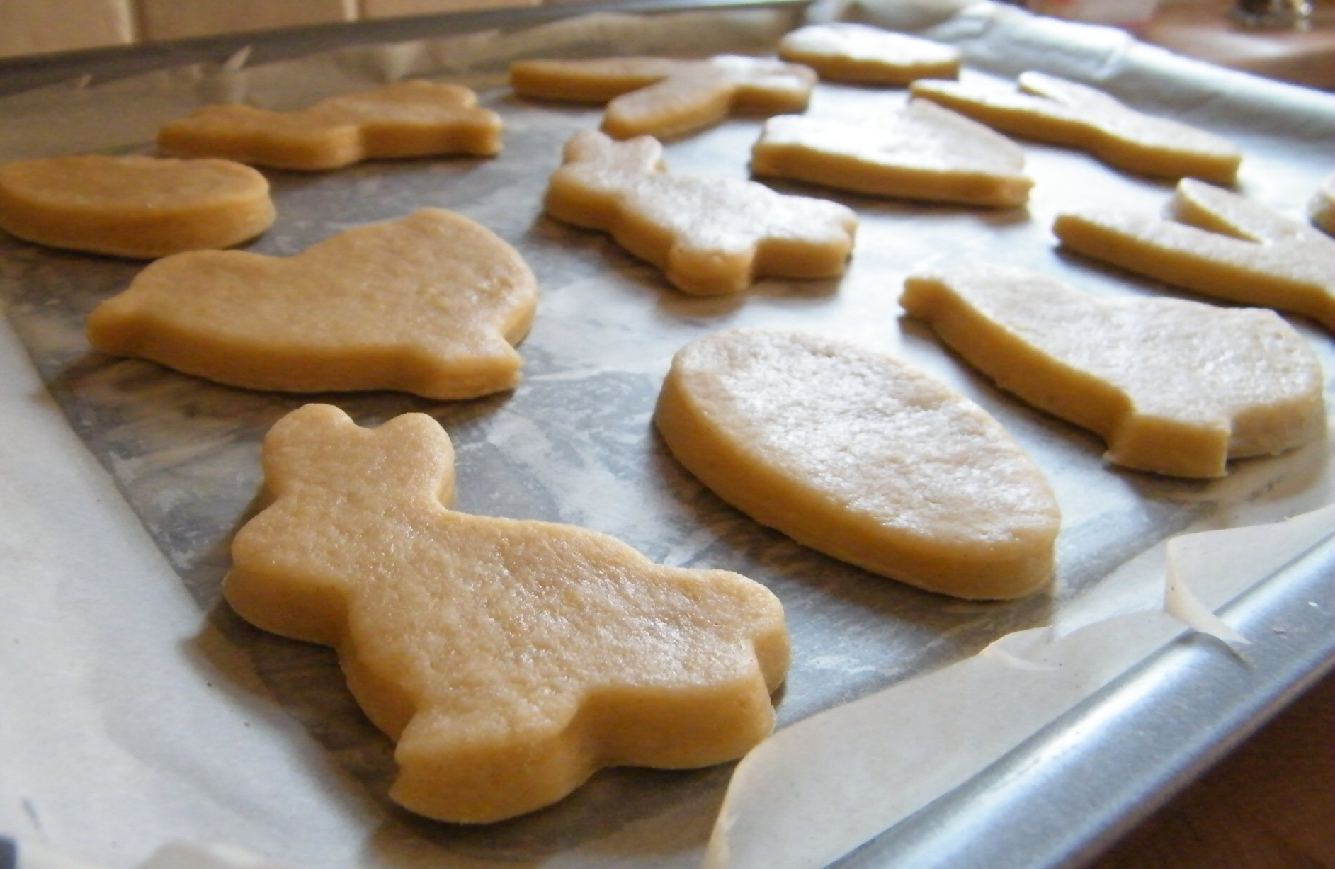 Easter shaped biscuits
