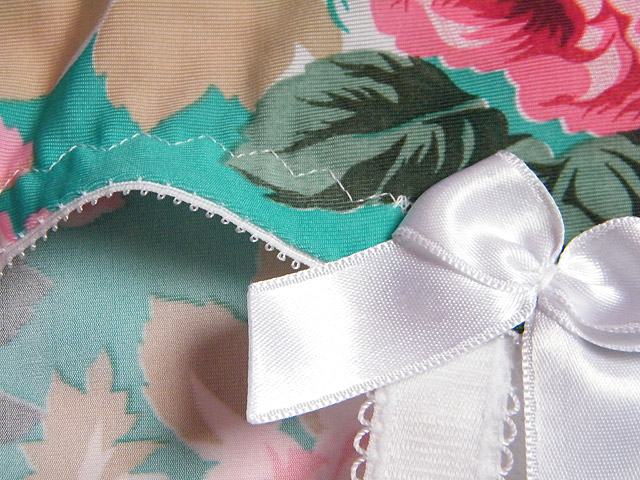 Rose Girdle Stitching Detail