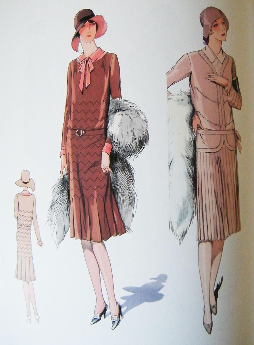 1920s Fashion Illustration Book , Vintage Gal
