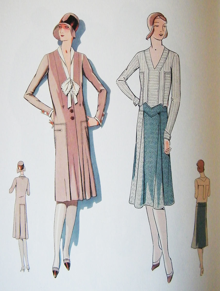 1920s daywear illustration