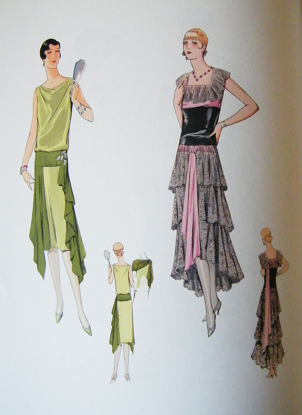 1920s Fashion Illustration Book