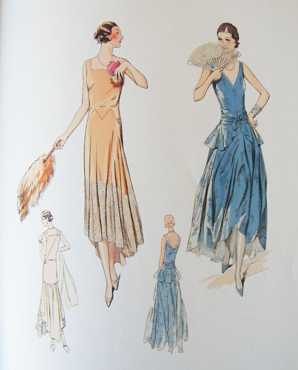 1920s dresses illustration