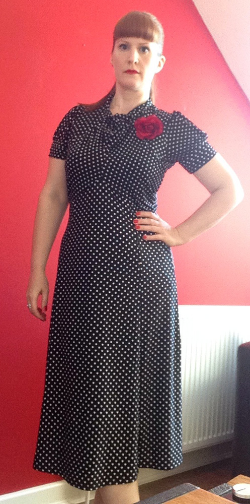 Vintage Gal in Amie Lindy Bop Dress