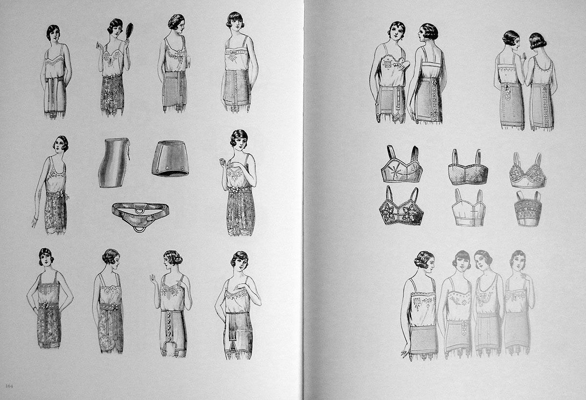 1920s lingerie illustration