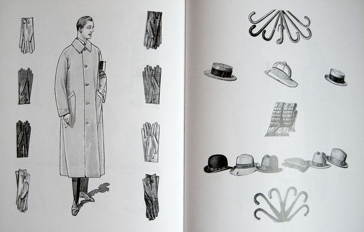 1920s men's accessories illustration