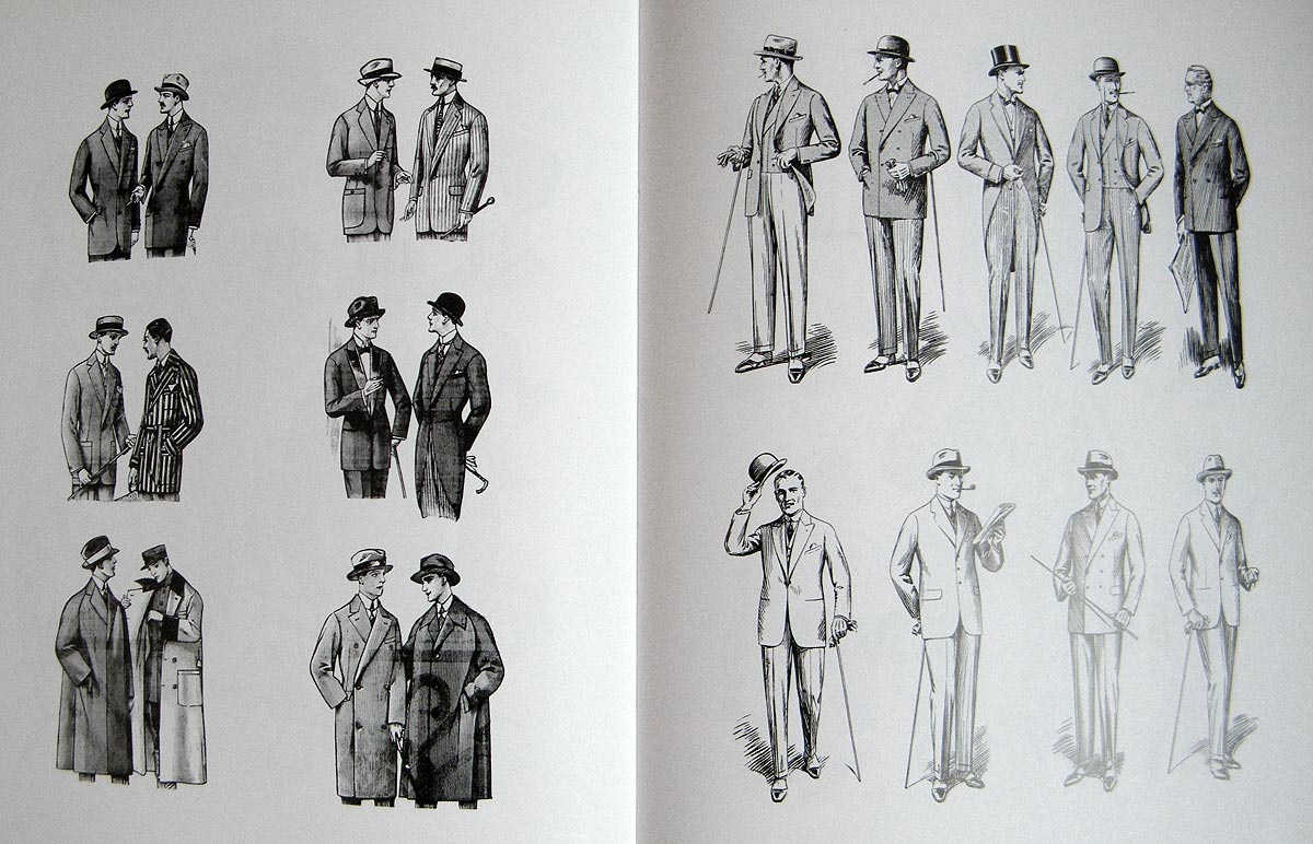1920s men's suits illustration