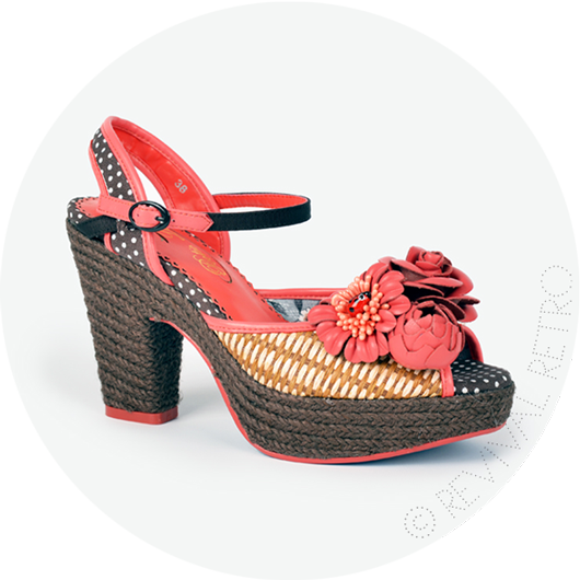 Poetic Licence Sandals Fancy Me from Revival Retro