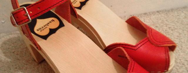 Swedish Hasbeens Heart Sandals