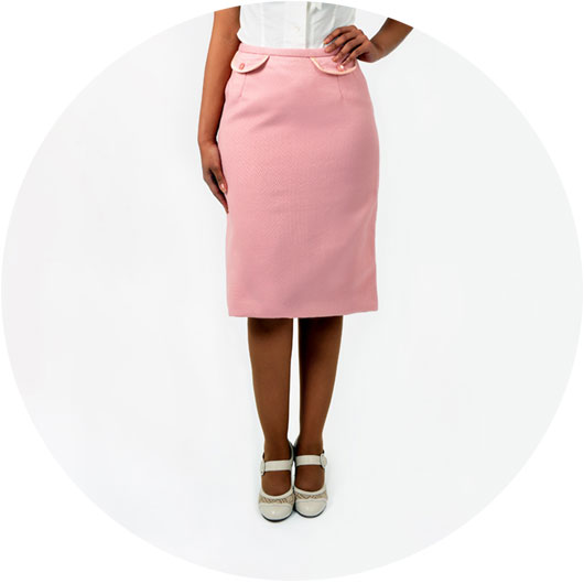 The Pretty Pink Vintage Pencil Skirt from Revival Retro