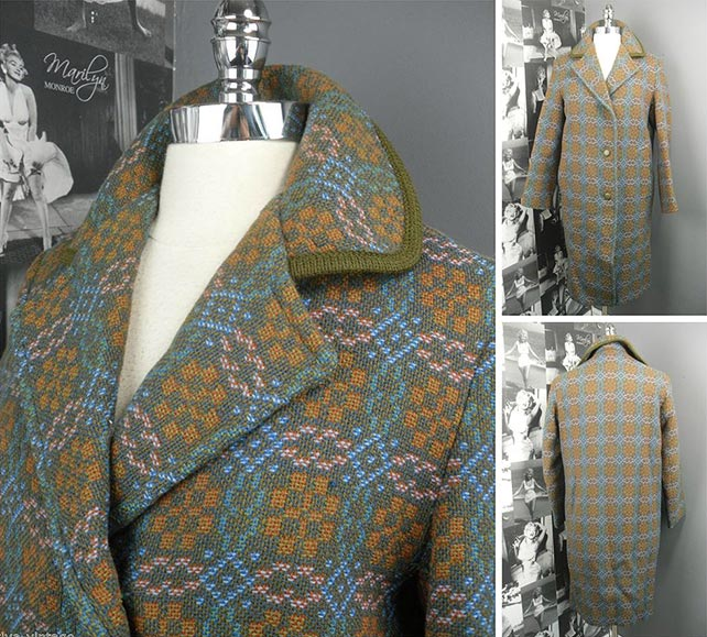 Vintage 1960s Welsh Tapestry Coat