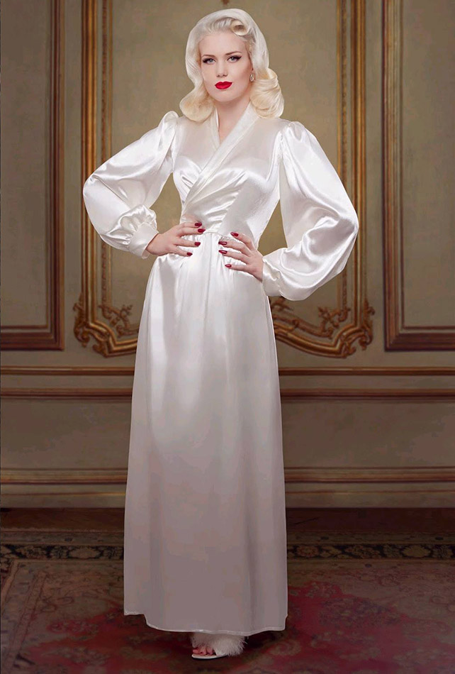 Peach Bettie Bridal Robe - Betty Blues Loungerie