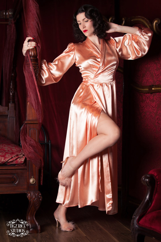 Peach Bettie Robe - Betty Blues Loungerie