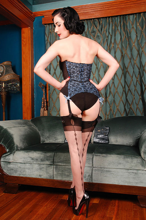 Dita Von Teese Diamond Backseam Stockings