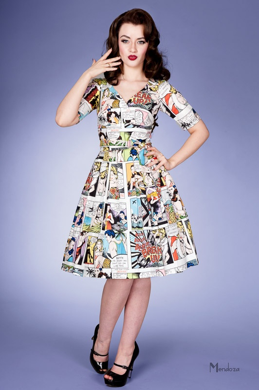 Comic book dress