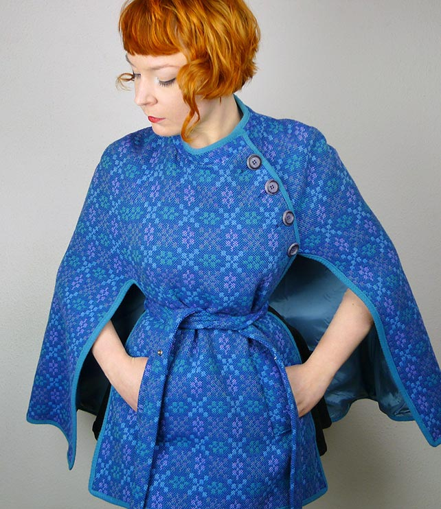 Welsh Tapestry cape from Sartorial Matters