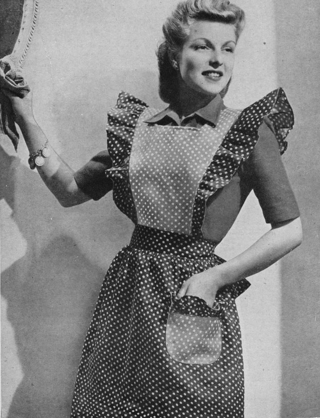 1940s frilly apron pattern