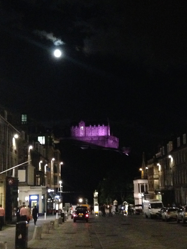 Edinburgh Castle at night