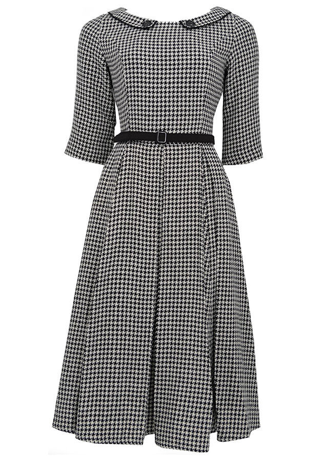 Ethel Houndstooth Dress - Collectif