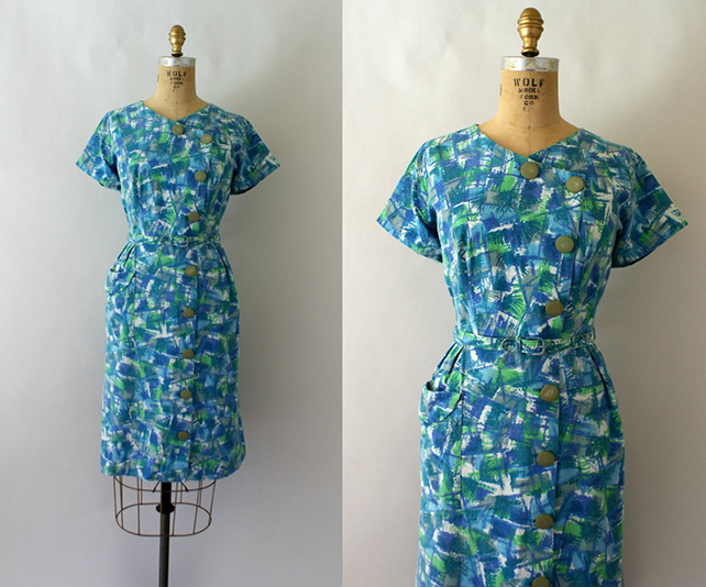 Late 50s day dress