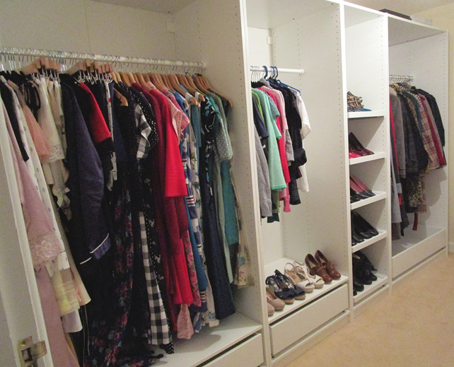 Complete walk-in wardrobe