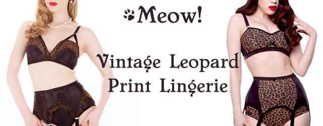 Vintage leopard print lingerie