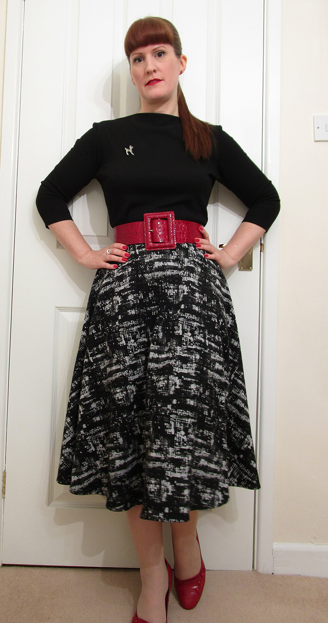 1950s Manhattan Circle Skirt