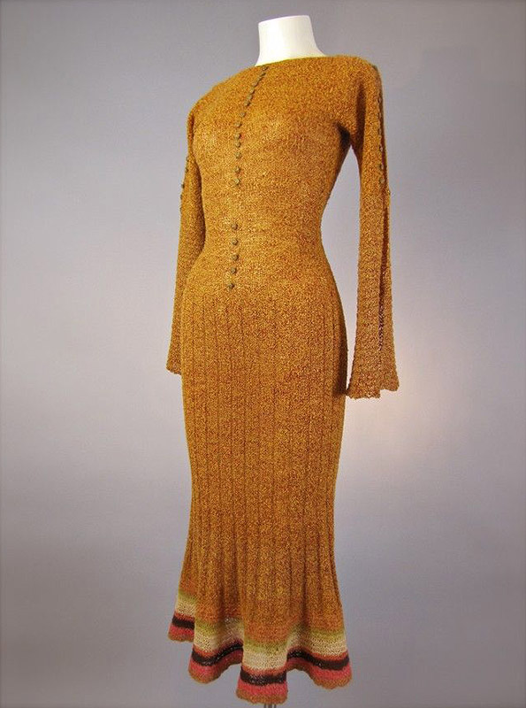1930s Knit Dress