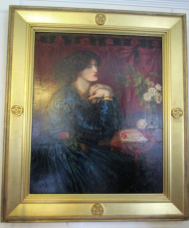 The Blue Silk Dress by Rossetti