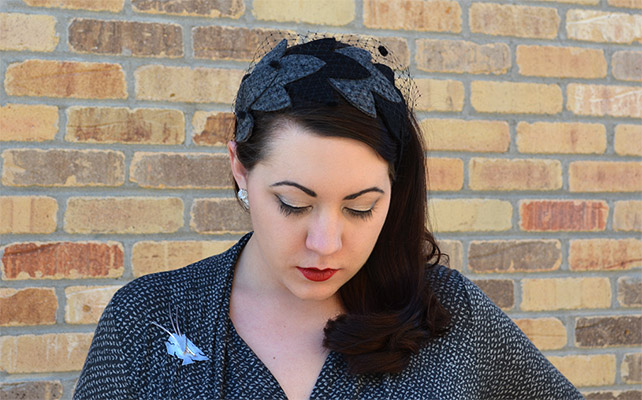 DIY: Retro Felt Leaf Half-Hat