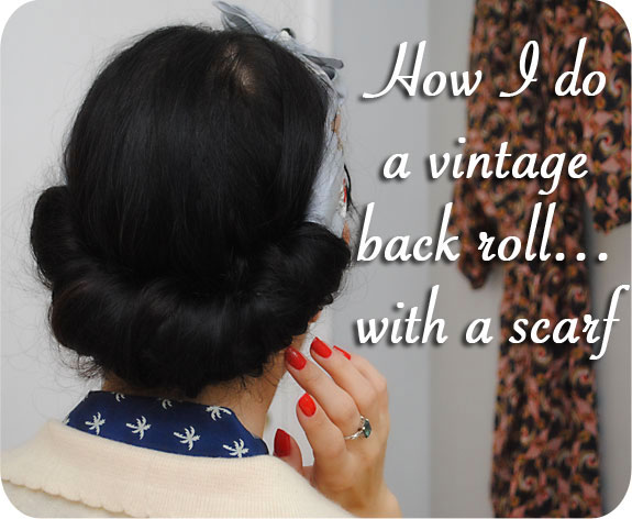 Vintage Back Roll With A Scarf