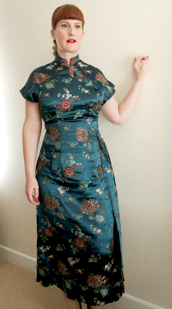 1950s Chinese satin dress