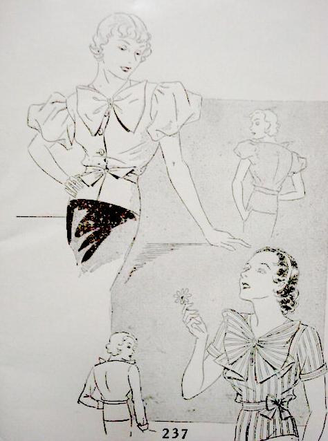 1930s Bow Necklines