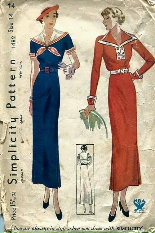 1930s Nautical Collars