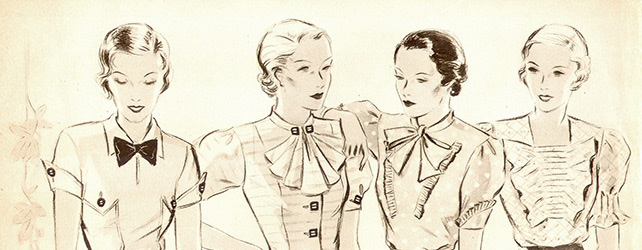 1930s necklines and collars