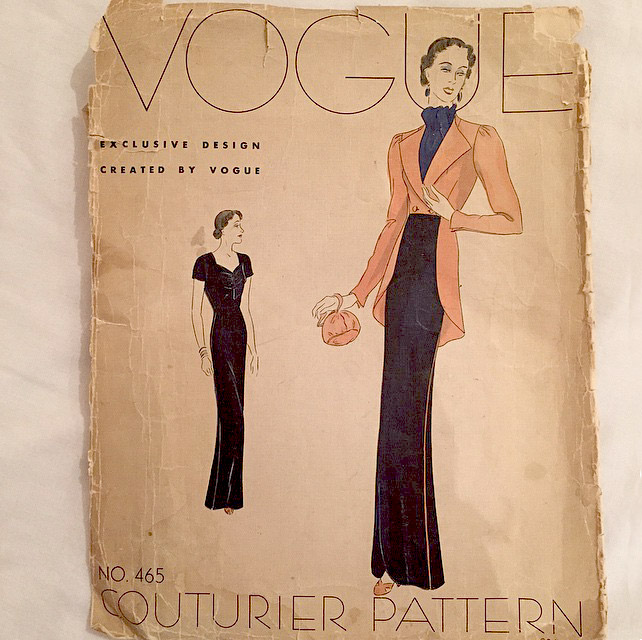 1940s Couturier sewing pattern