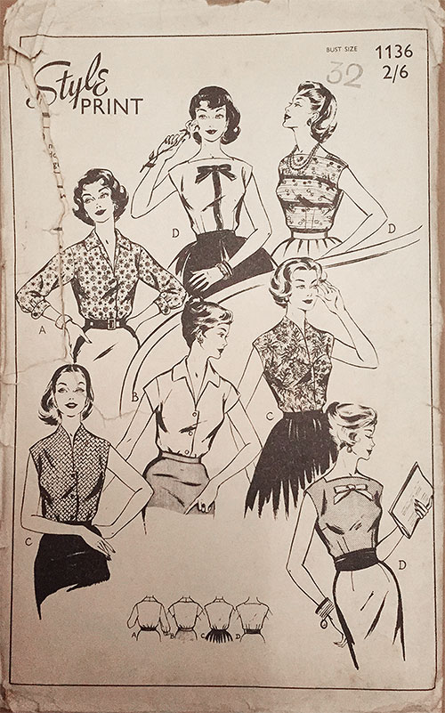 1950s Top Sewing Pattern