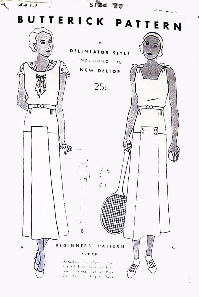 Butterick pattern 1930s