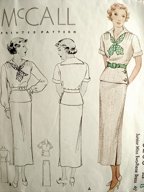 Mccall 8206 1930s Sewing Pattern