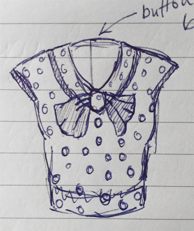 My 1930s blouse design