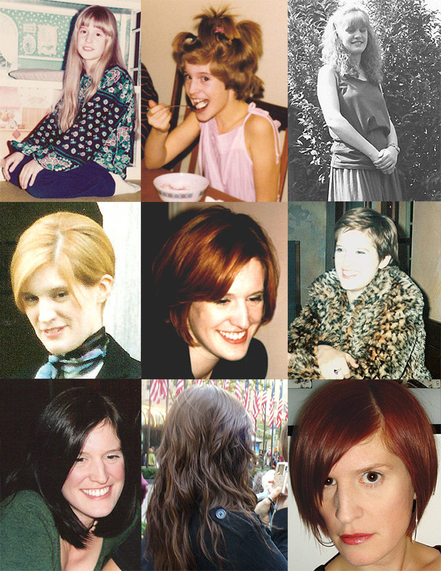 My hairstyles over the years