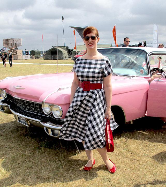 Pink Cadillac Vintage Gal