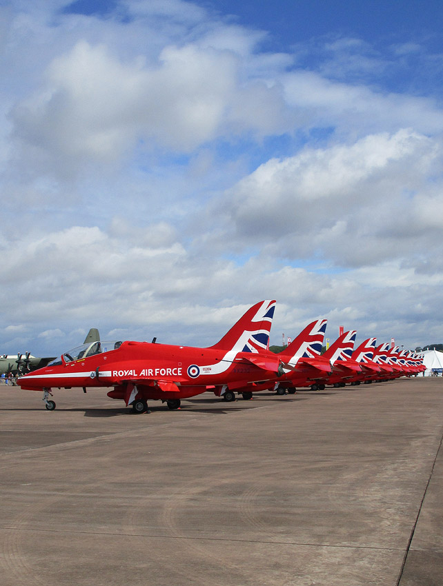 The Red Arrows at RIAT 2015