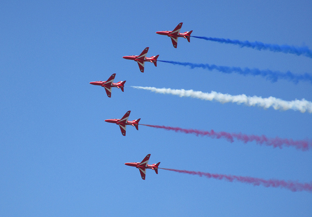 Red Arrows Red White and Blue