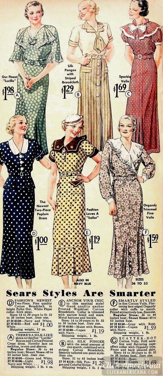 Sears 1930s dresses