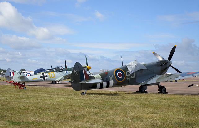 Spitfire and Messerschmitt at RAF Fairford
